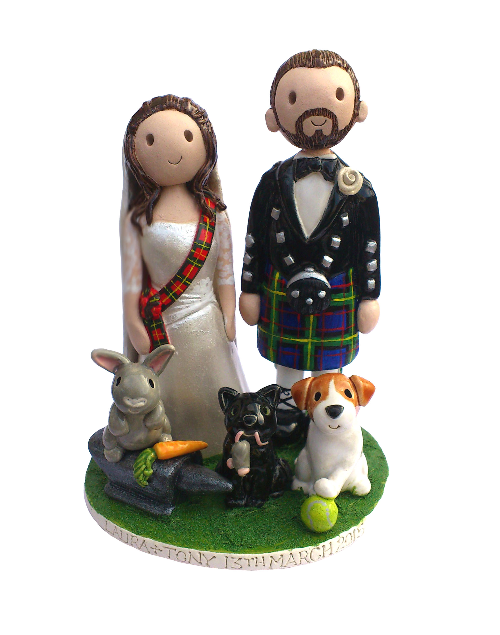 Scottish Wedding Cake Toppers Uk