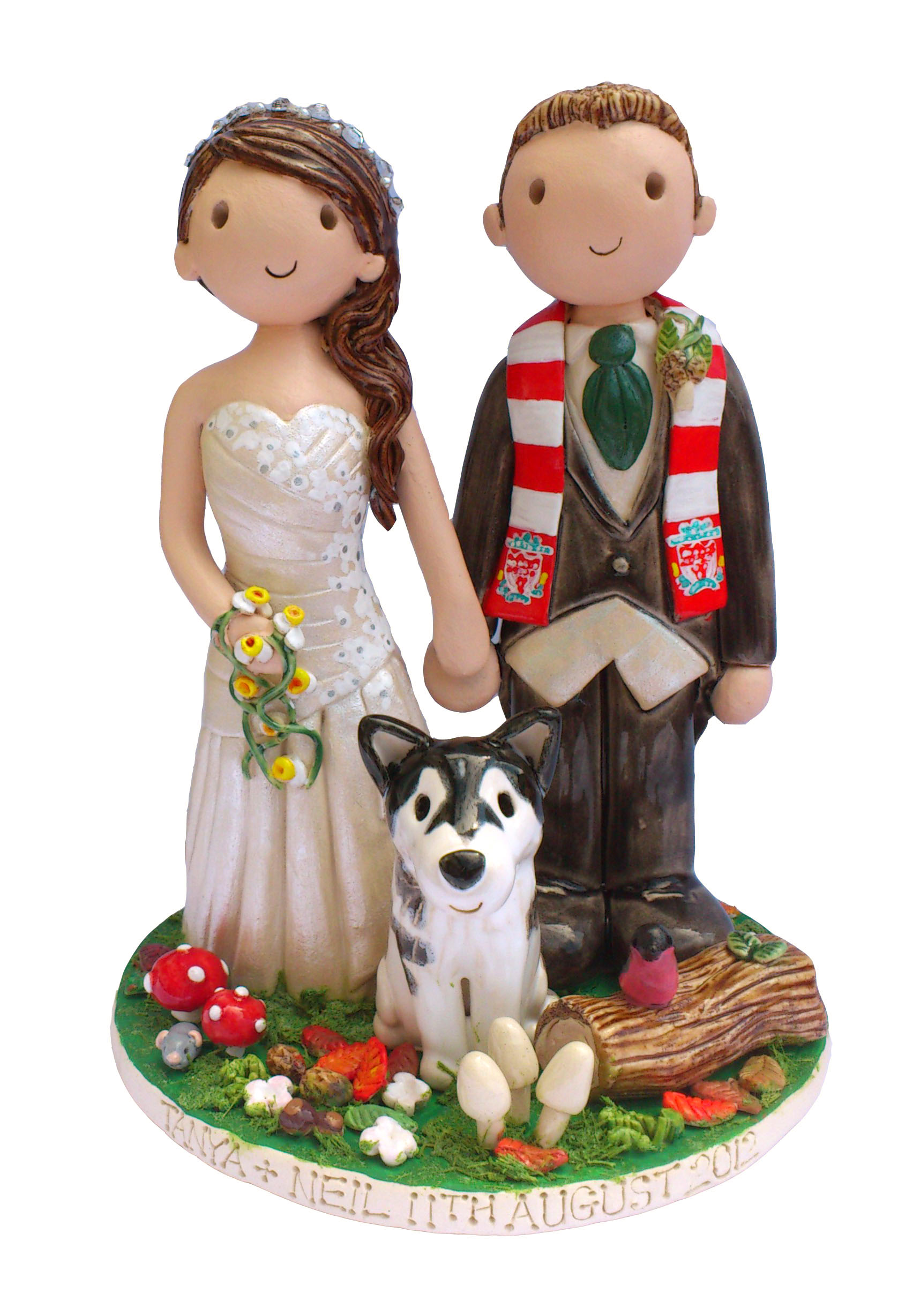 Wedding Cake Toppers. Hand Made Personalised Wedding Cake ...