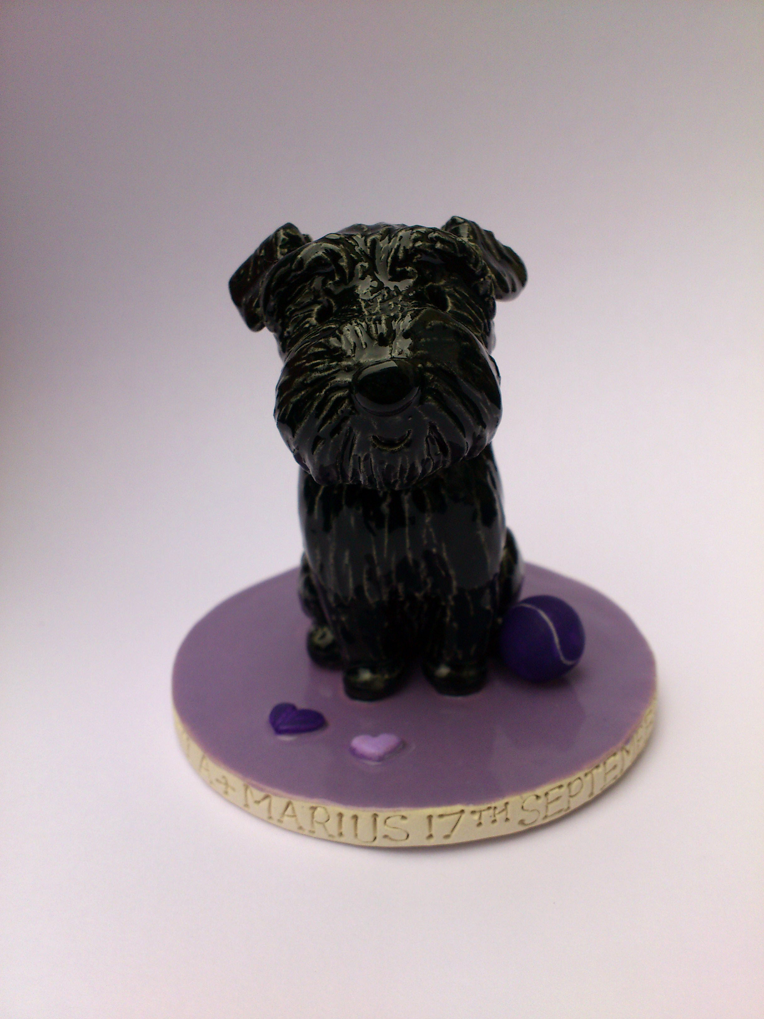 Pet Cake Toppers. Personalised Ceramic Pet Portraits