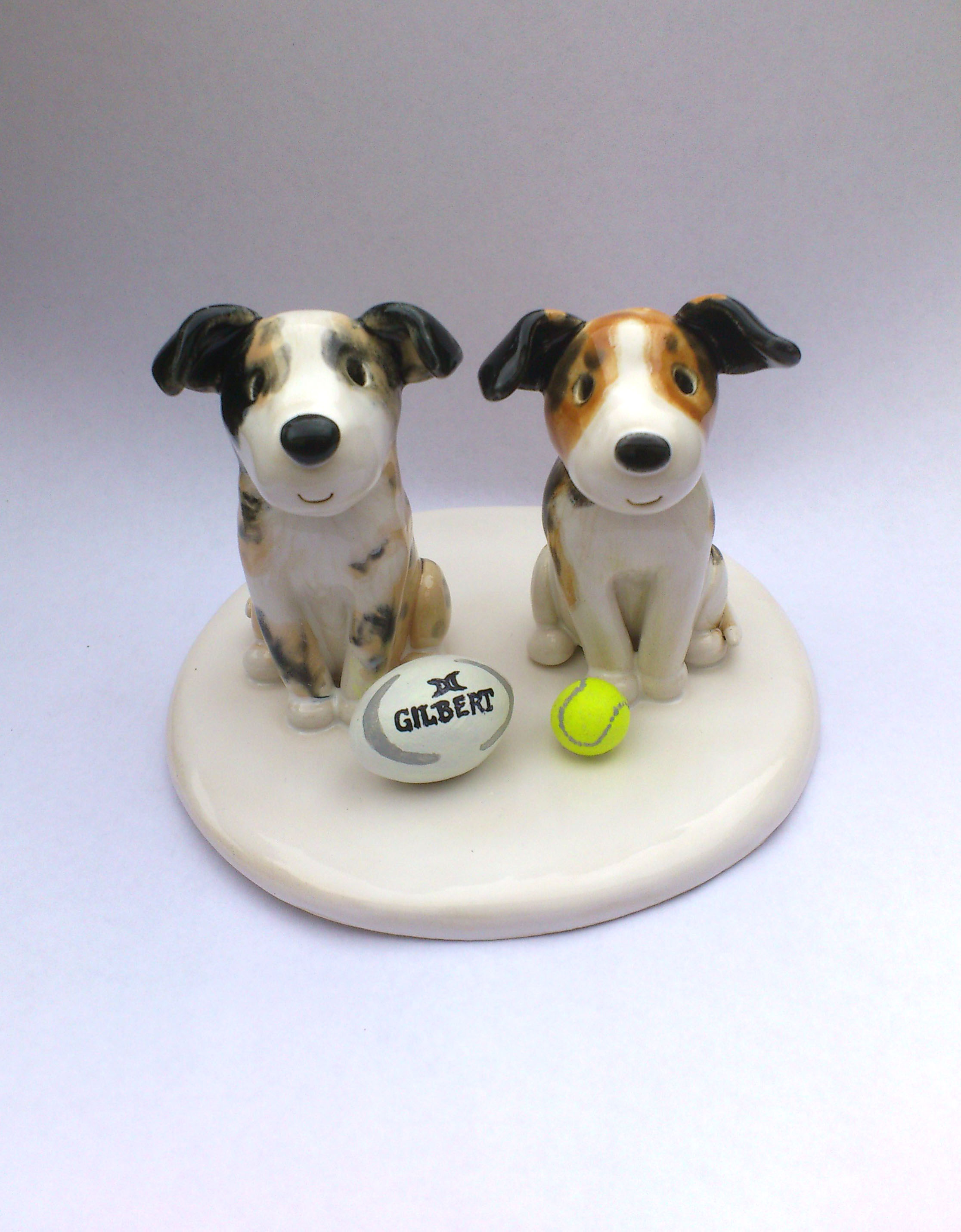 Ceramic Animal Wedding Cake Toppers