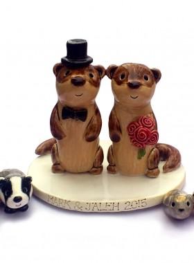 Otter Wedding Topper
