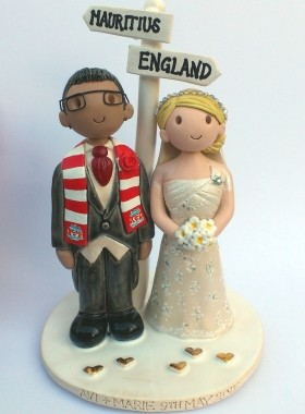 Personalised Signpost Wedding Topper