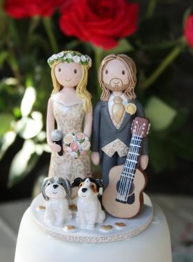 Cake Topper Musicians
