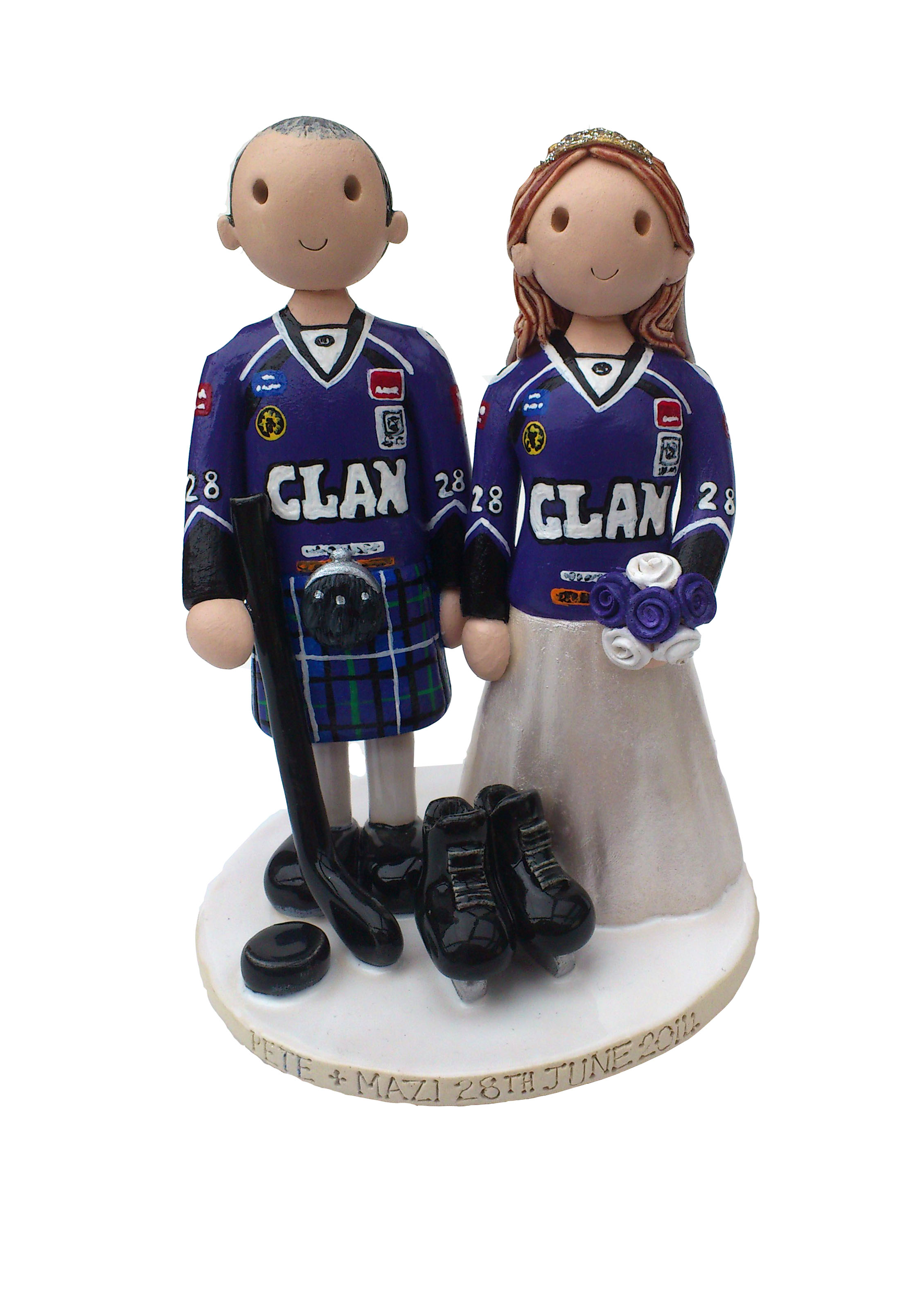 Ice Hockey Cake Decorations Uk : Wedding Cake Toppers Gallery. Examples Of Toppers We Have ...