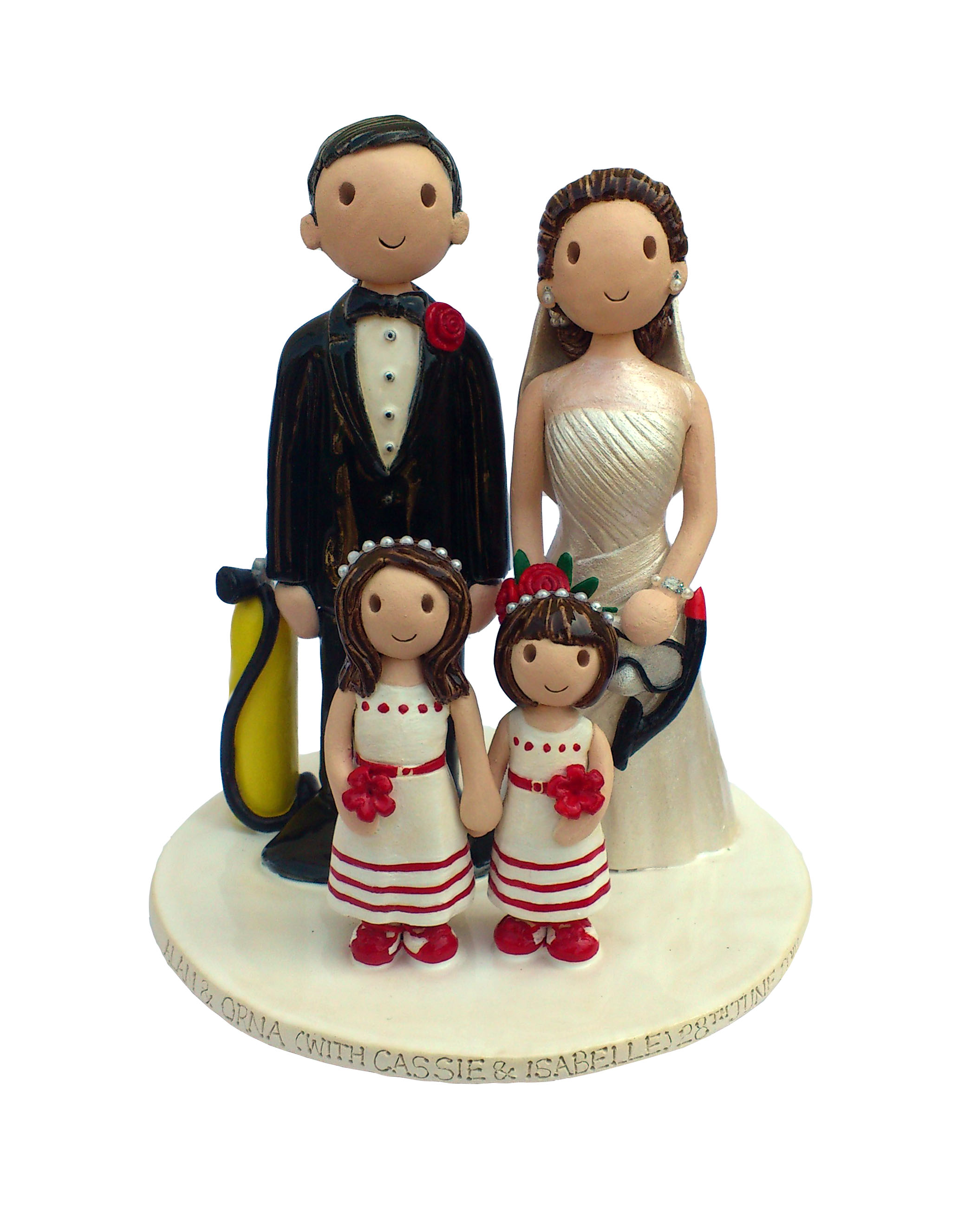 Wedding Cake Toppers Gallery. Hand Made, Personalised Cake