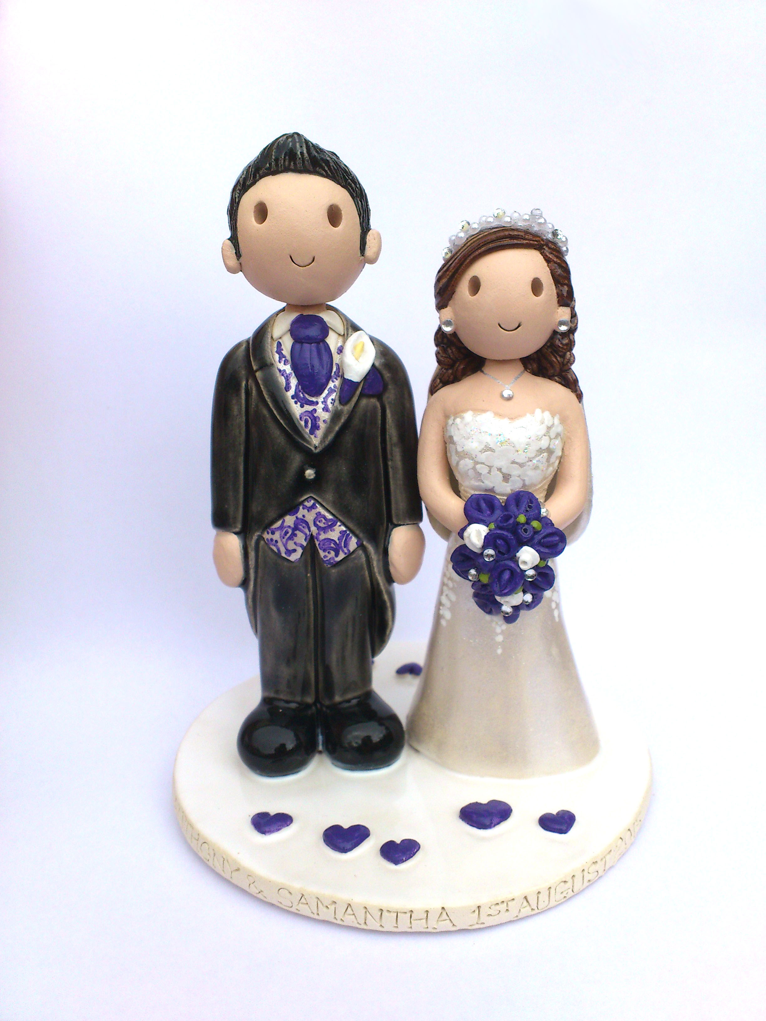 Cake Toppers Uk Wedding : Wedding Cake Toppers Gallery. Hand Made, Personalised Cake ...