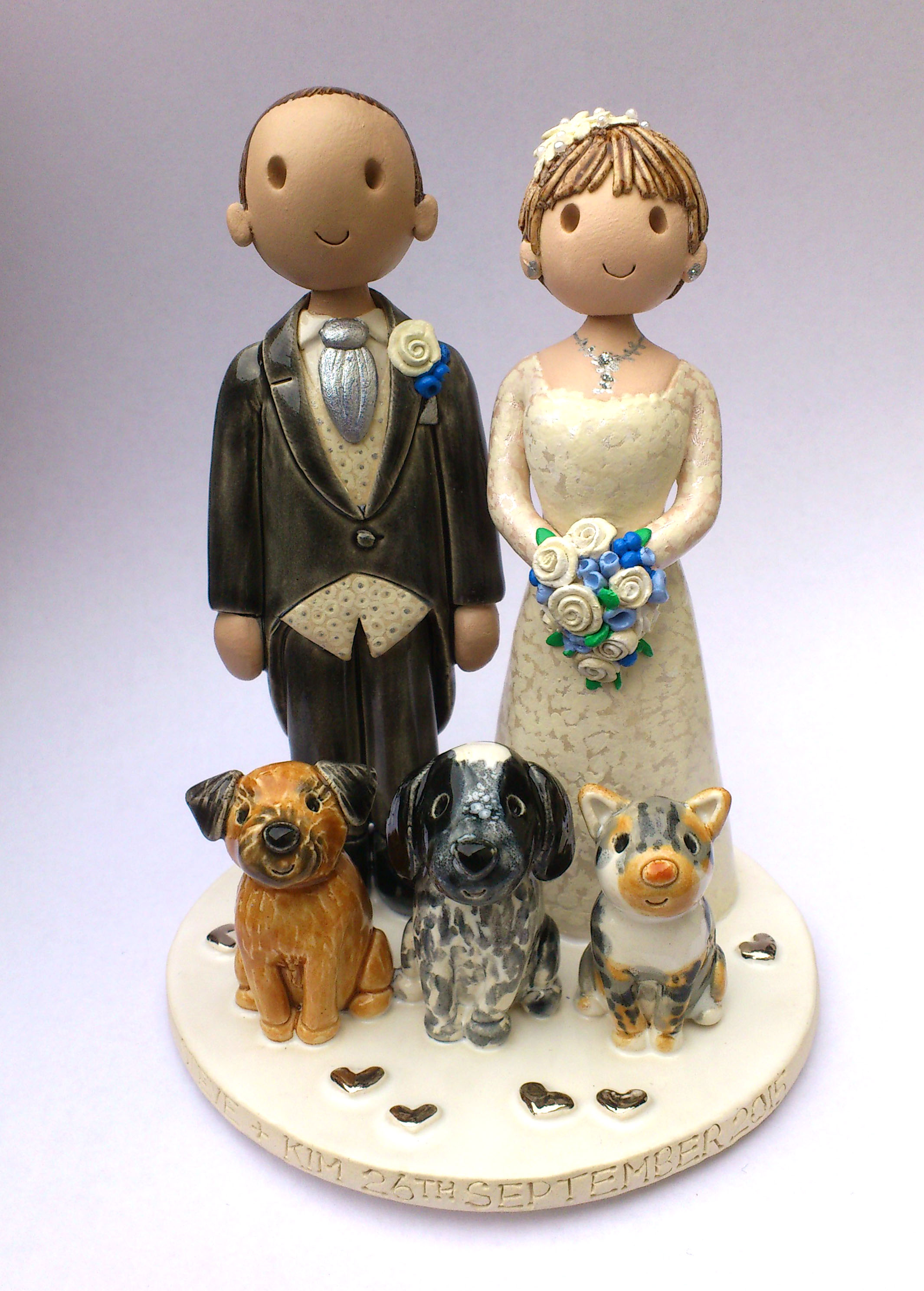 Wedding Cake Decorations Uk Only : Wedding Cake Toppers Gallery. Hand Made, Personalised Cake ...