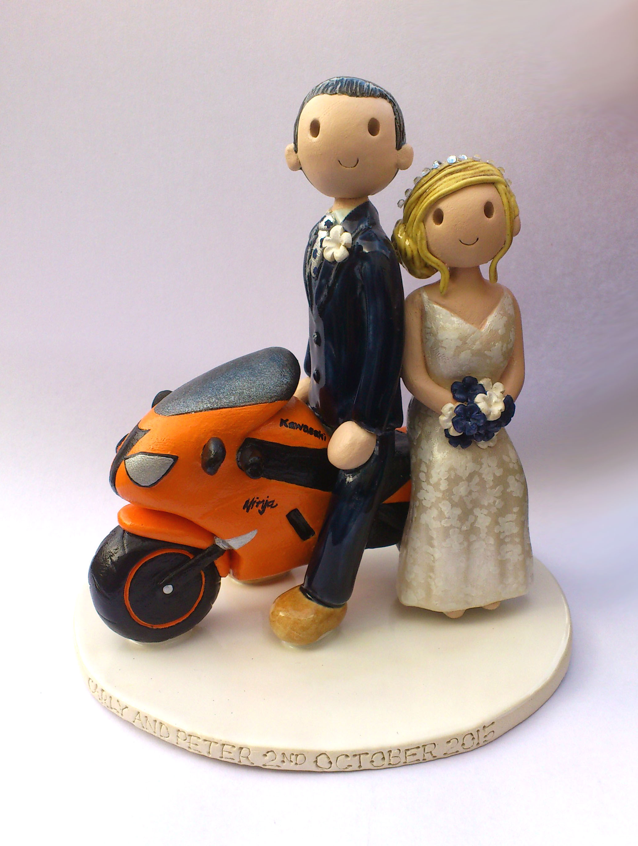Personalised Clay Wedding Cake Toppers Uk