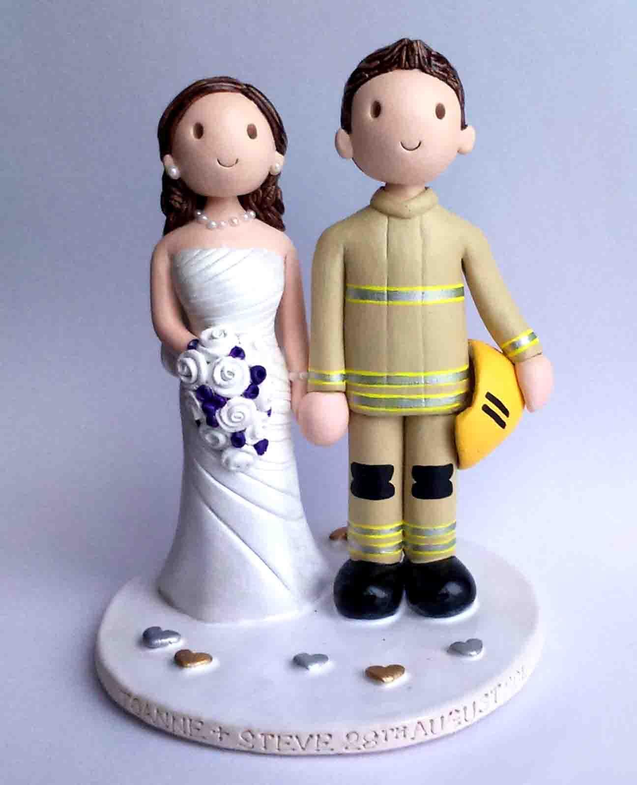 Fireman Wedding Cake Toppers Uk