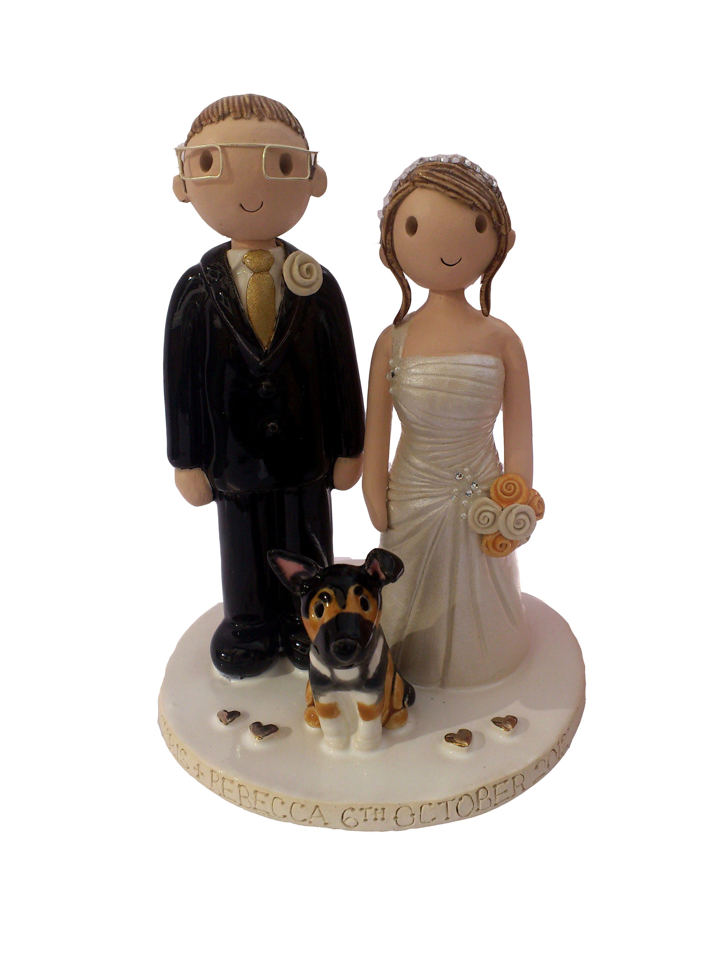 Wedding Cake Topper With Dog Uk