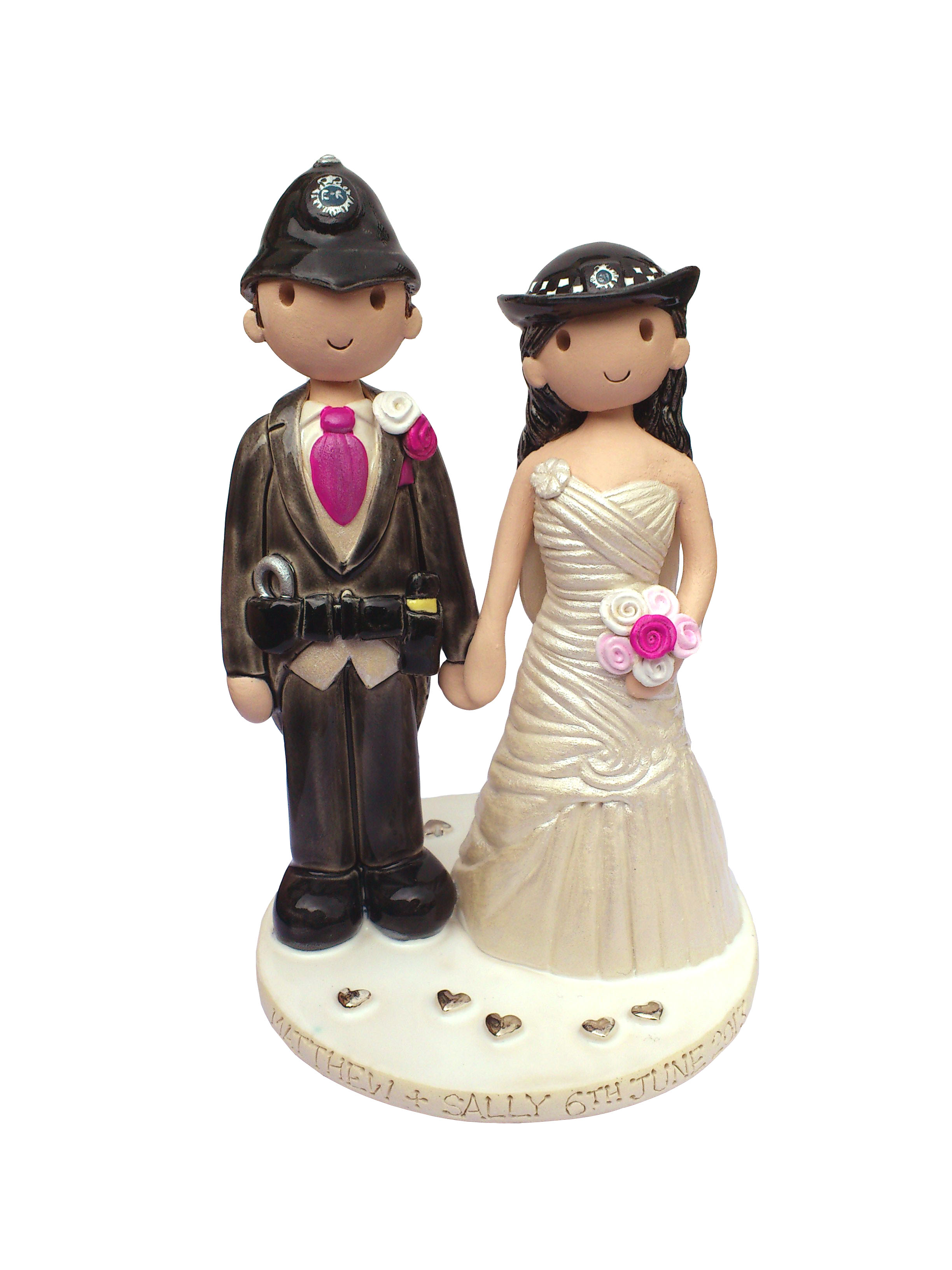 Police Cake Toppers For Wedding Cakes
