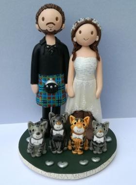 Scottish cake topper