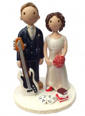 Musician Actress Wedding Cake Topper