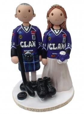 Ice Hockey Wedding Topper