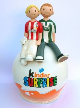 Kinder Egg Cake Topper