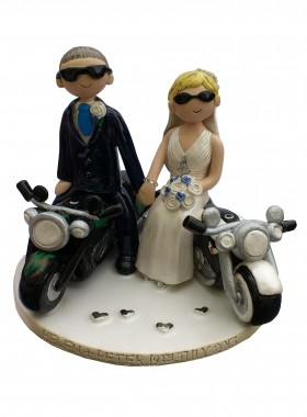 Motorbike Wedding Cake Toppers Uk