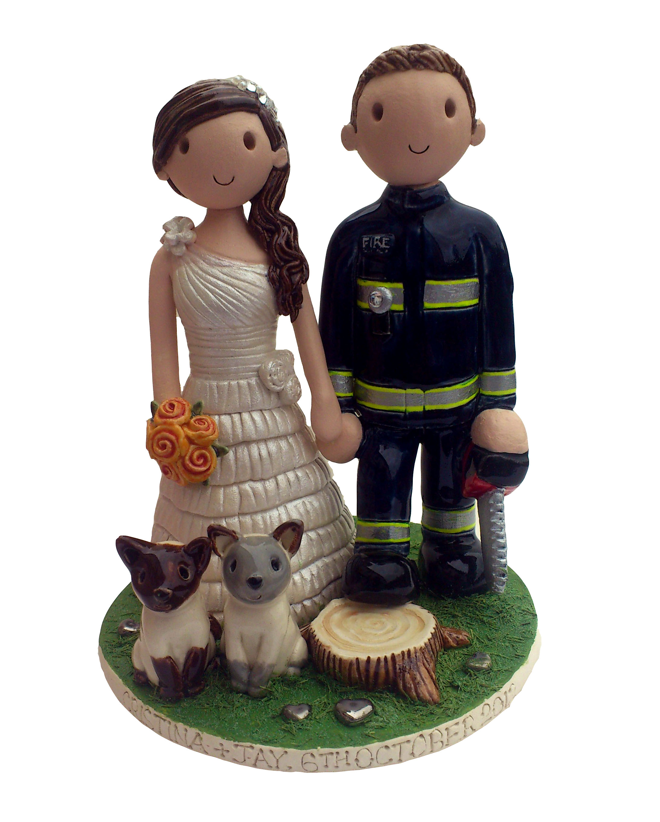 deer hunting wedding cake toppers
