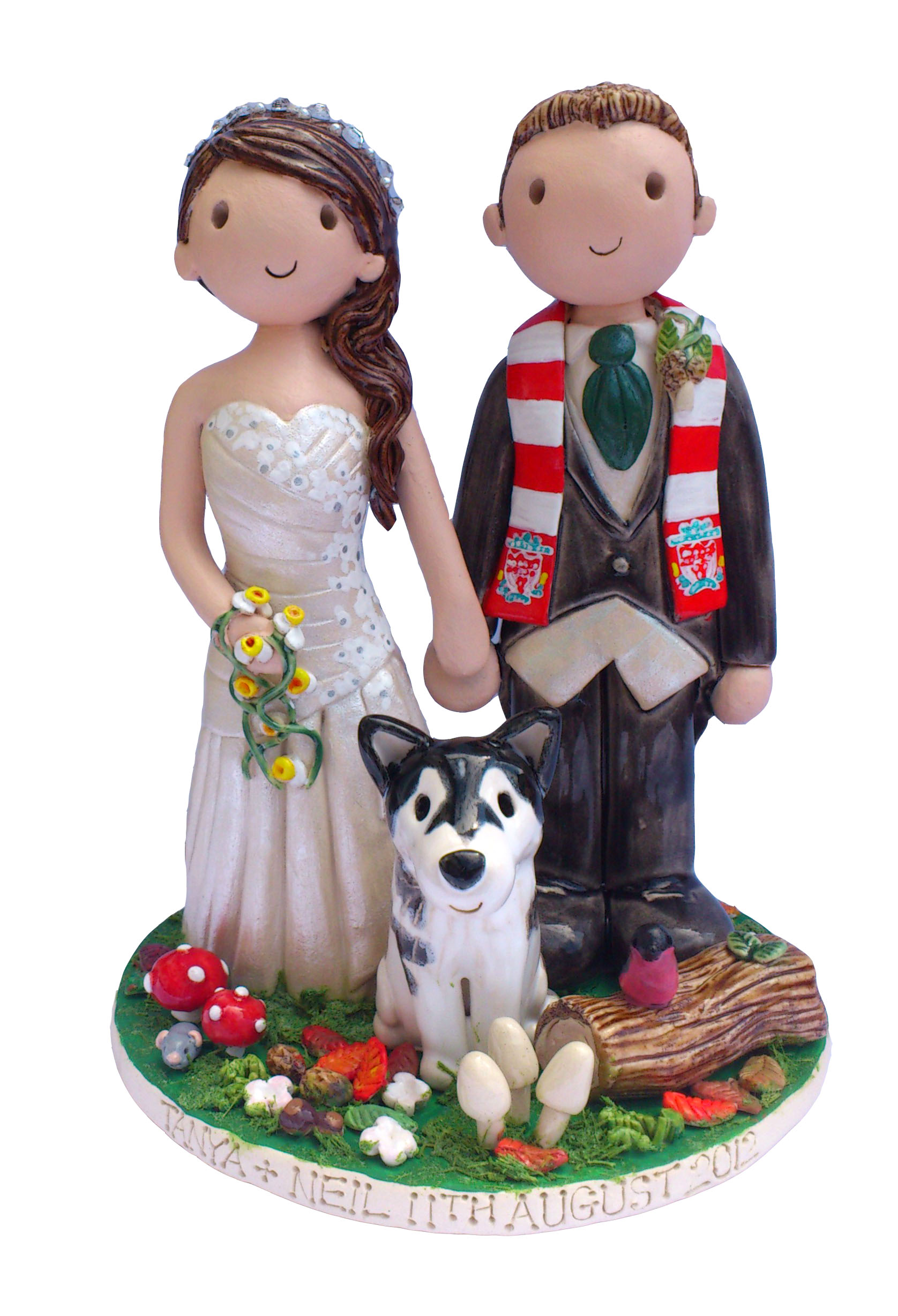 Cake Toppers Uk Personalised : Wedding Cake Toppers Gallery. Hand Made, Personalised Cake ...