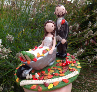 Autumn cake toppers
