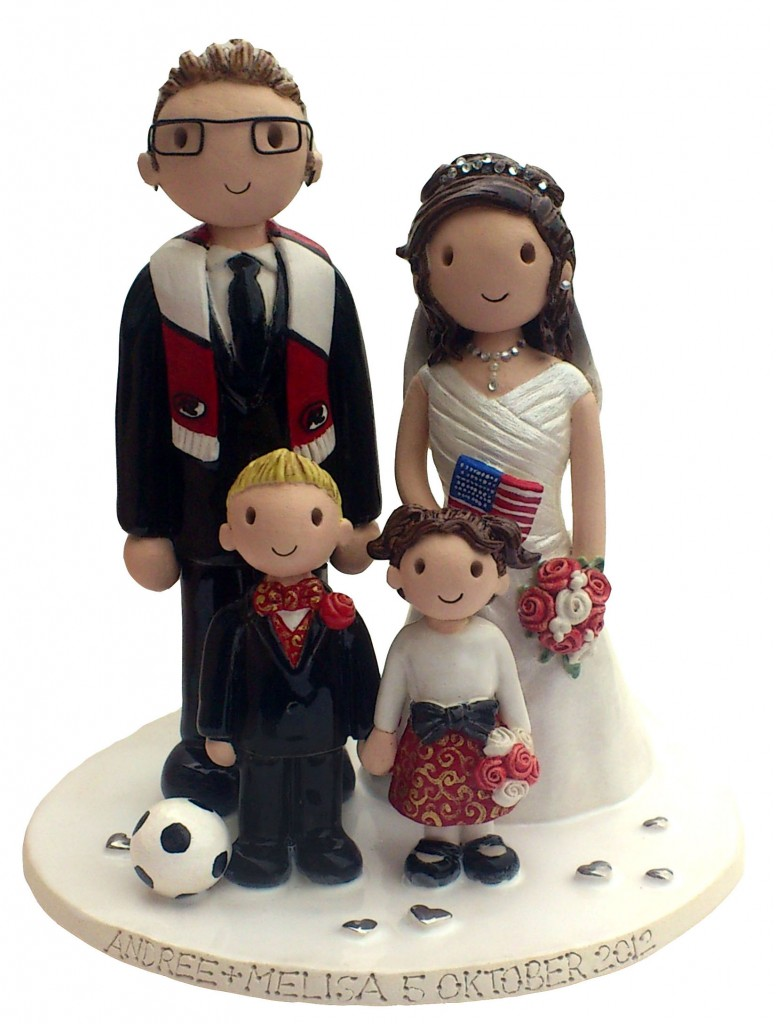 Family Cake Top Wedding