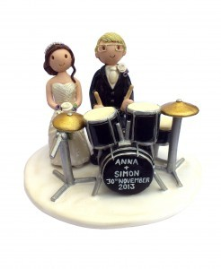 Drum kit wedding cake topper
