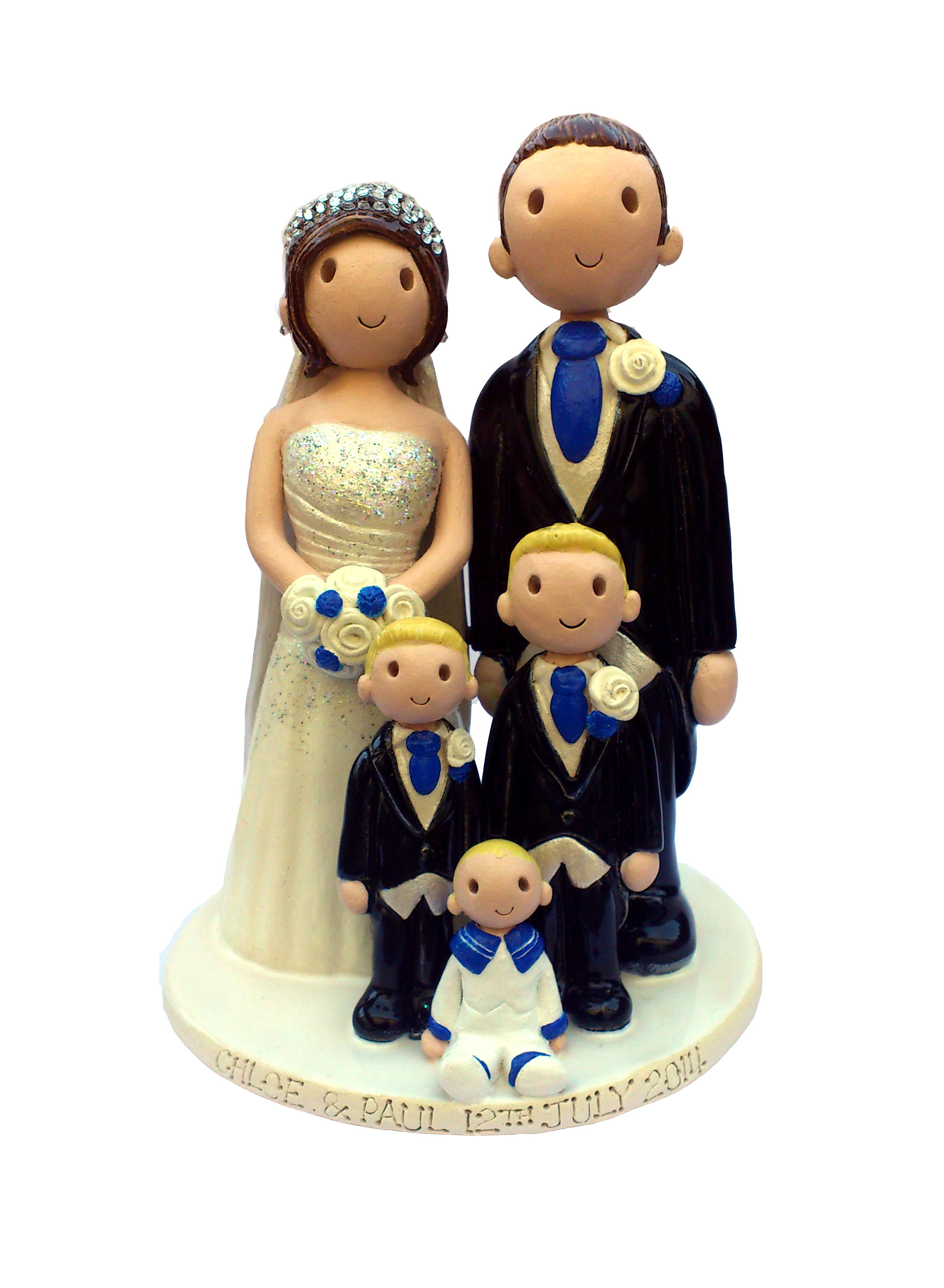Family Themed Wedding Cake Toppers