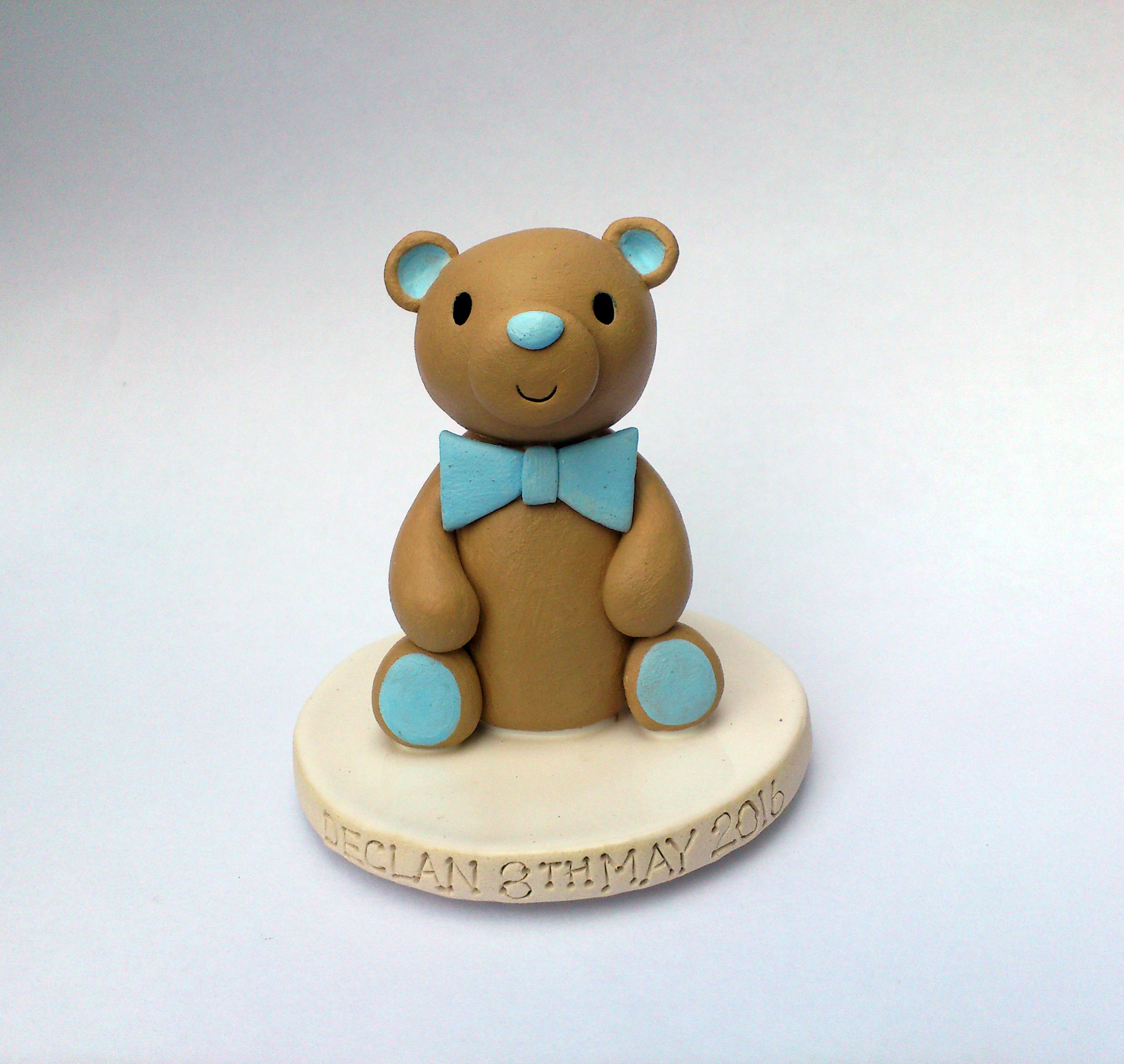teddy bear wedding cake topper pet cake toppers personalised ceramic pet portraits 20790