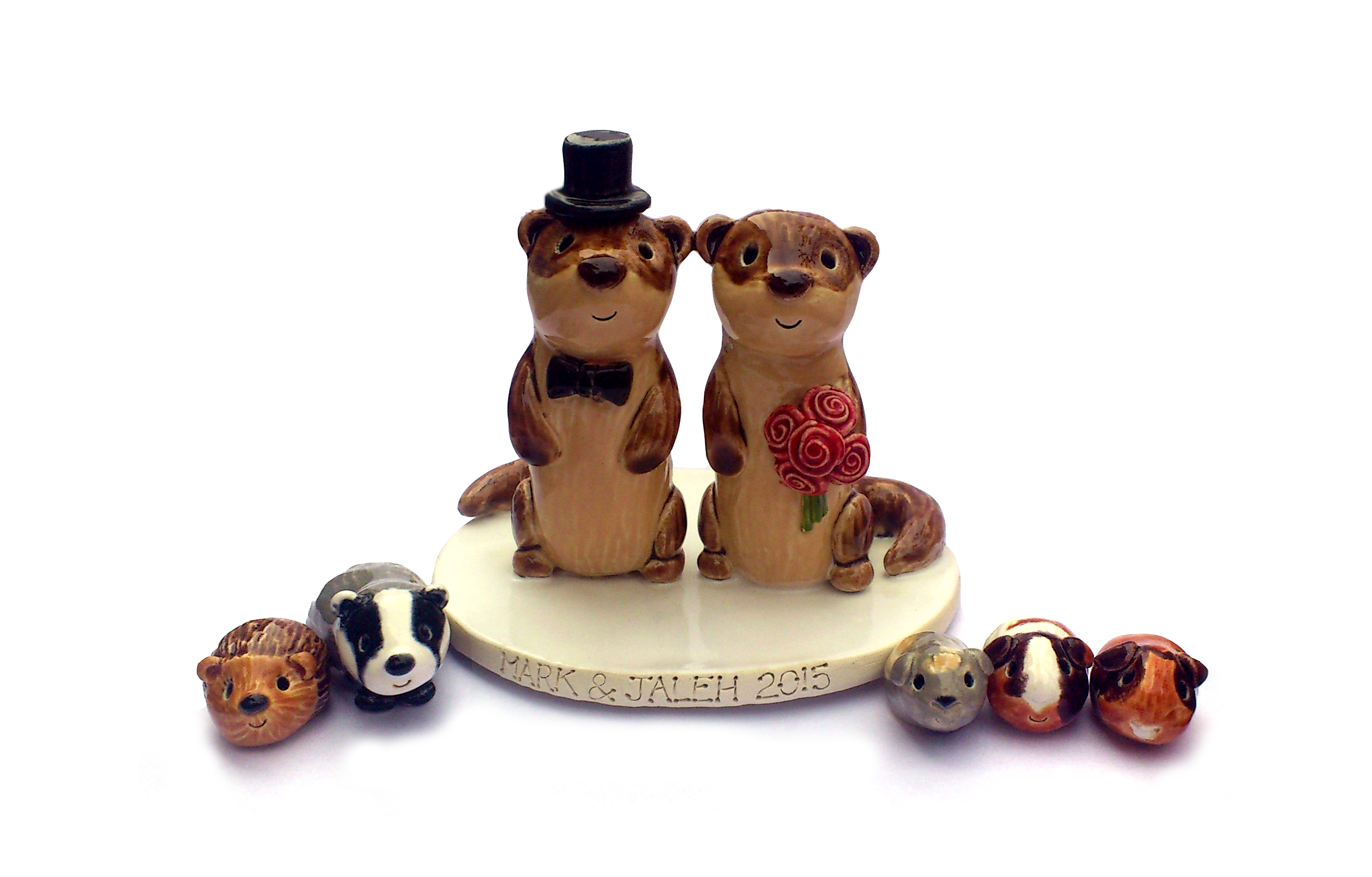ceramic wedding cake toppers uk pet cake toppers personalised ceramic pet portraits 12492