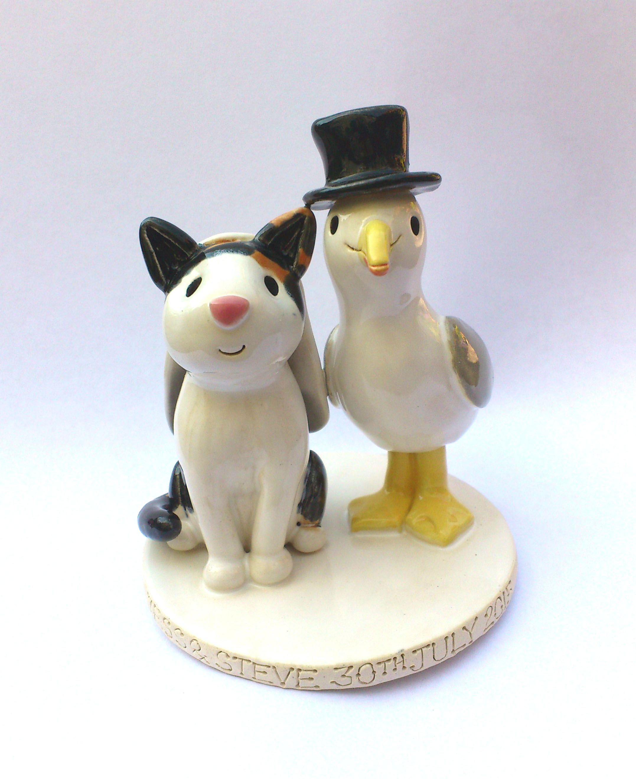 wedding cake toppers cats uk pet cake toppers personalised ceramic pet portraits 26435