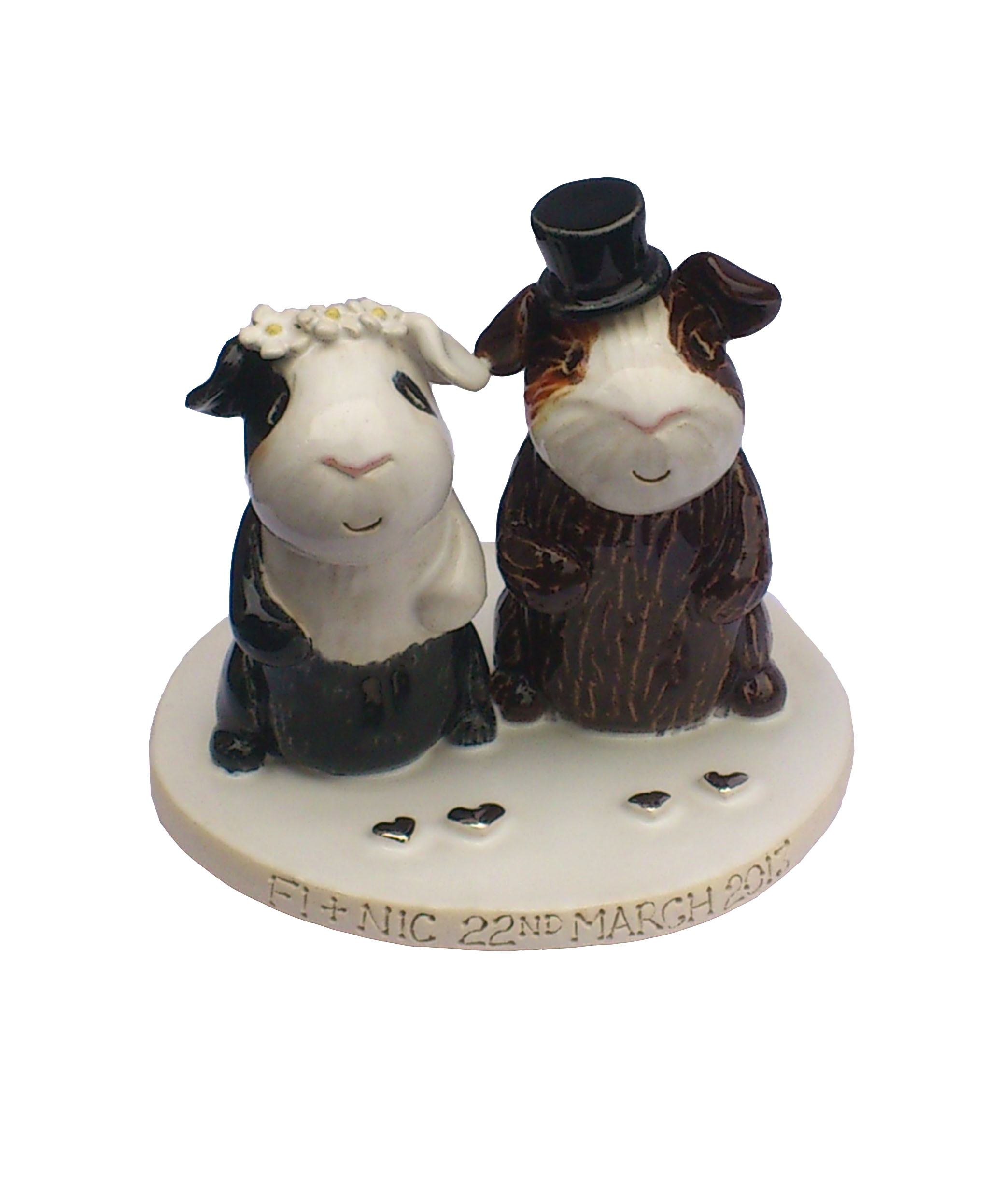 animal wedding cake toppers uk pet cake toppers personalised ceramic pet portraits 10775