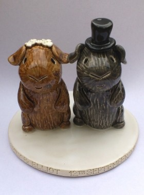 Guinea Pig Bride and Groom