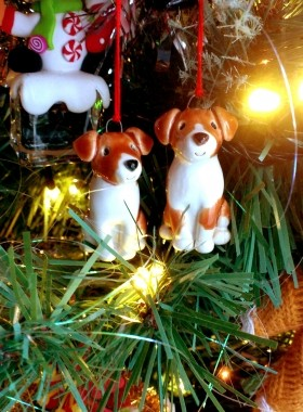 Jack Russell Personalised Christmas decorations