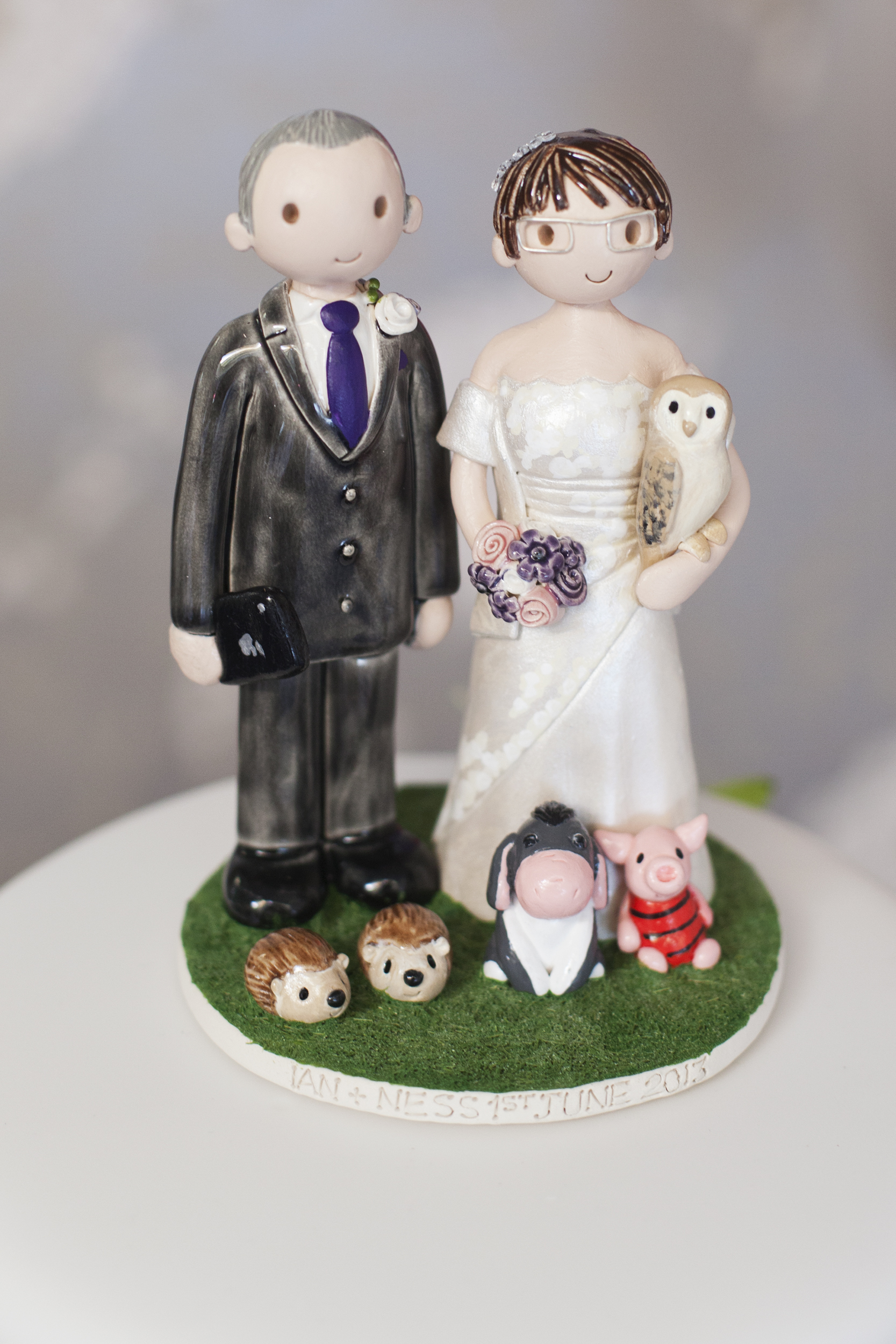 animal wedding cake toppers uk examples of wedding cake toppers made for our customers 10775