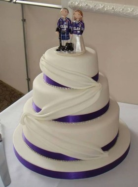 Ice Hockey Wedding Cake Topper