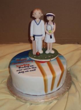 Sport Theme Wedding Cake