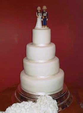 Runner Wedding Cake Topper