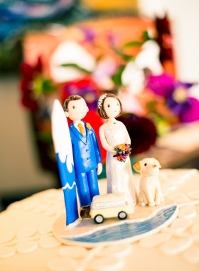 Wedding Jay, Beach Cake Topper