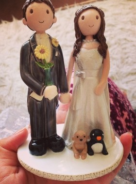 Sunflower Wedding Cake Topper
