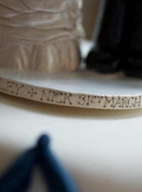 Wedding Cake Topper Engraving