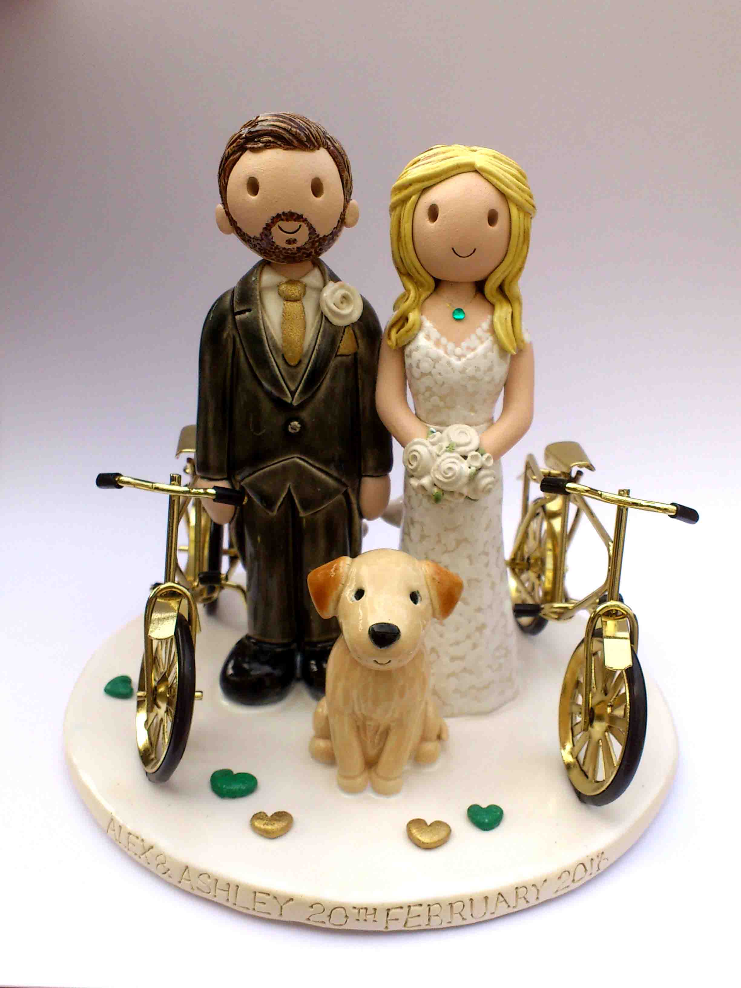 bicycle wedding cake topper uk wedding cake toppers gallery examples of toppers we 11736