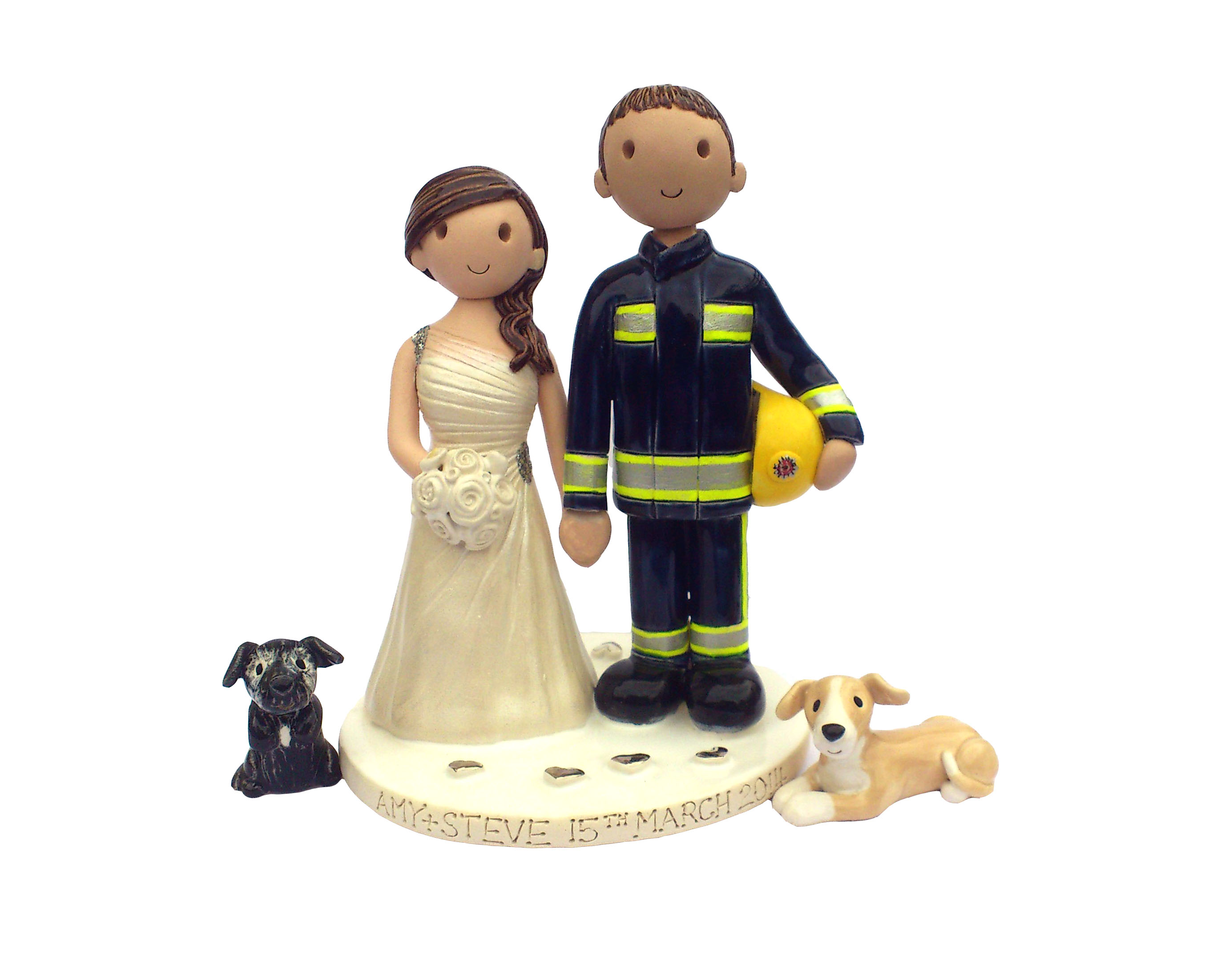 personalised clay wedding cake toppers uk wedding cake toppers gallery made personalised cake 18210
