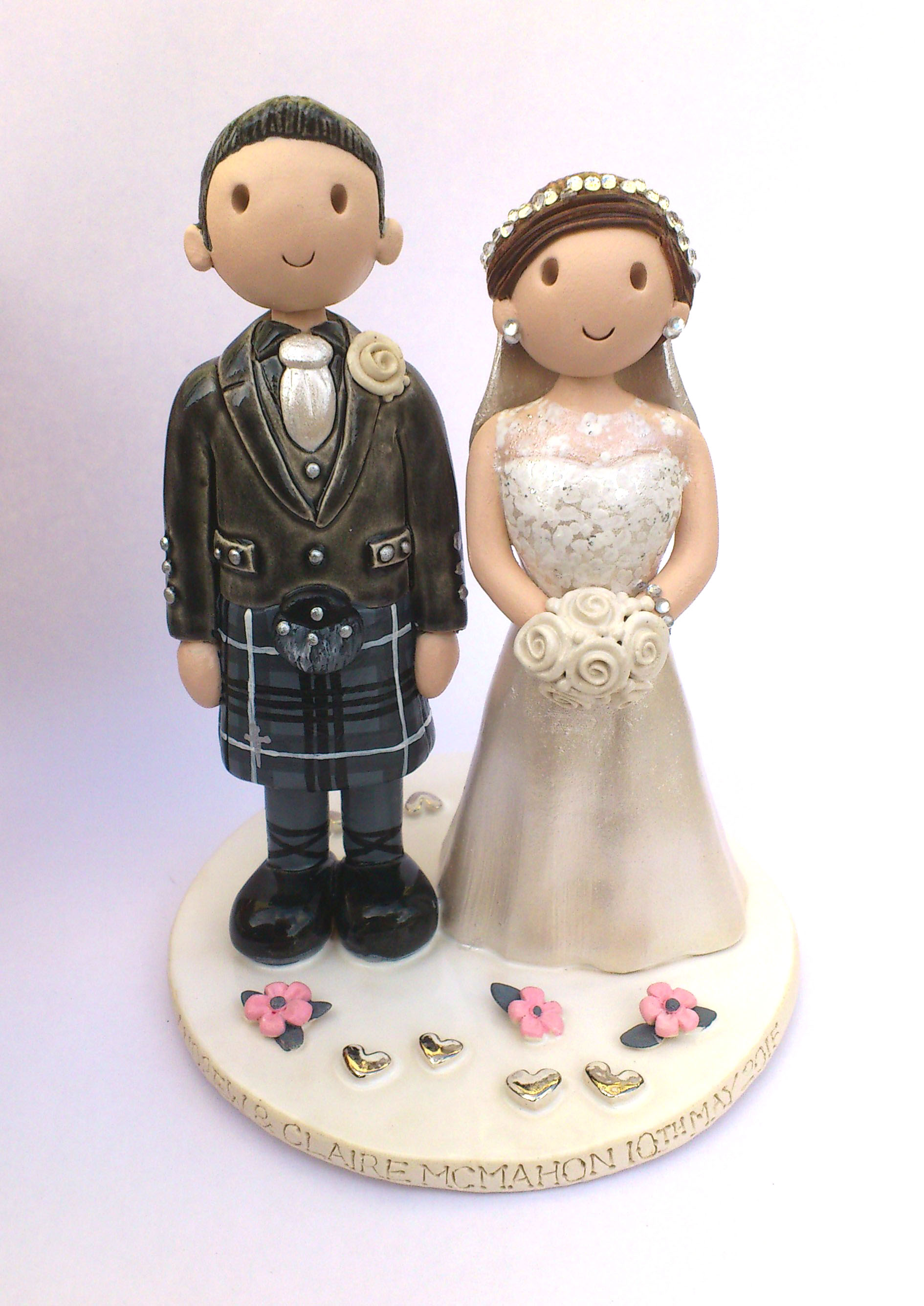 wedding cake toppers personalised uk wedding cake toppers gallery made personalised cake 26573