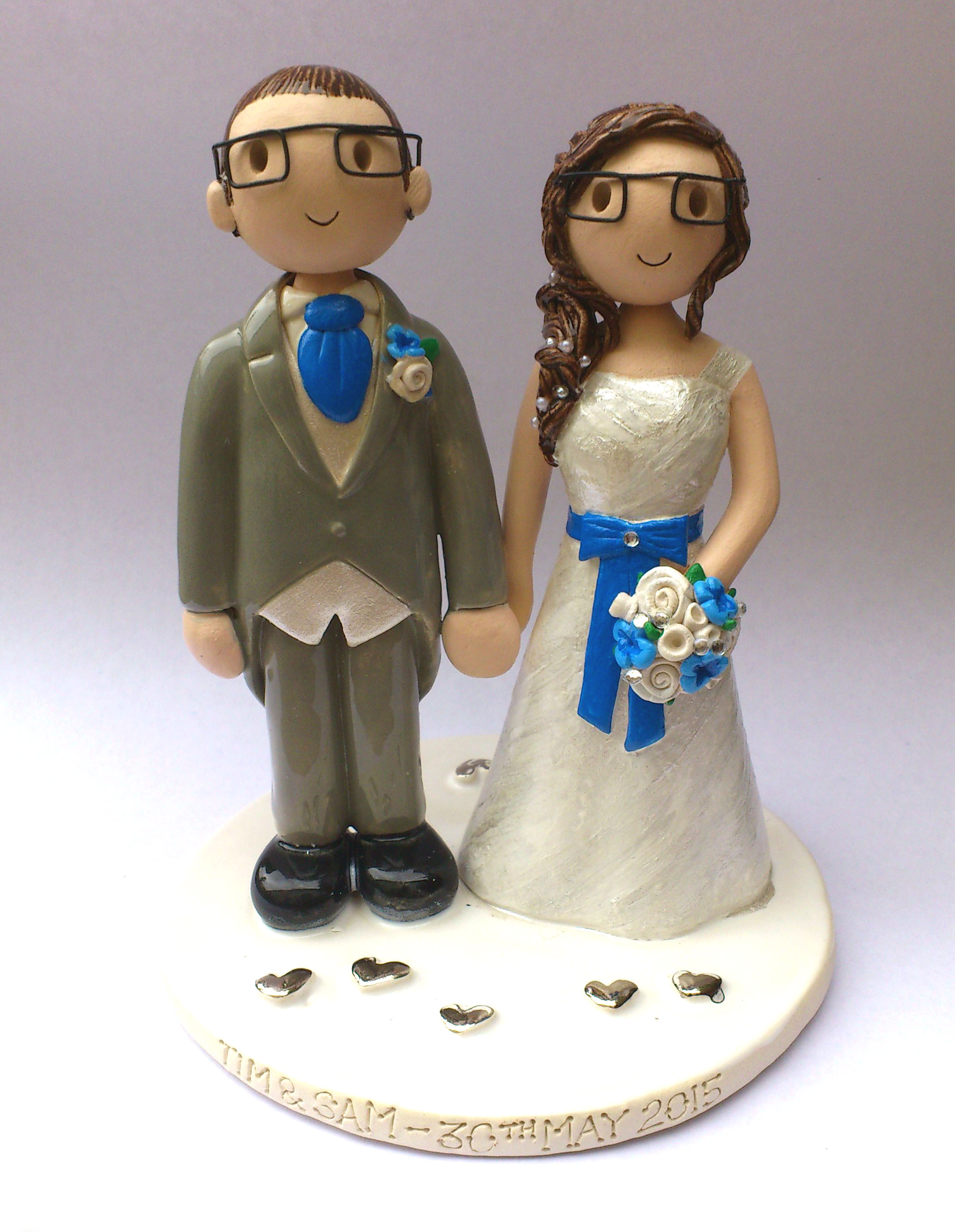 personalised wedding cake toppers uk only wedding cake toppers gallery made personalised cake 18257