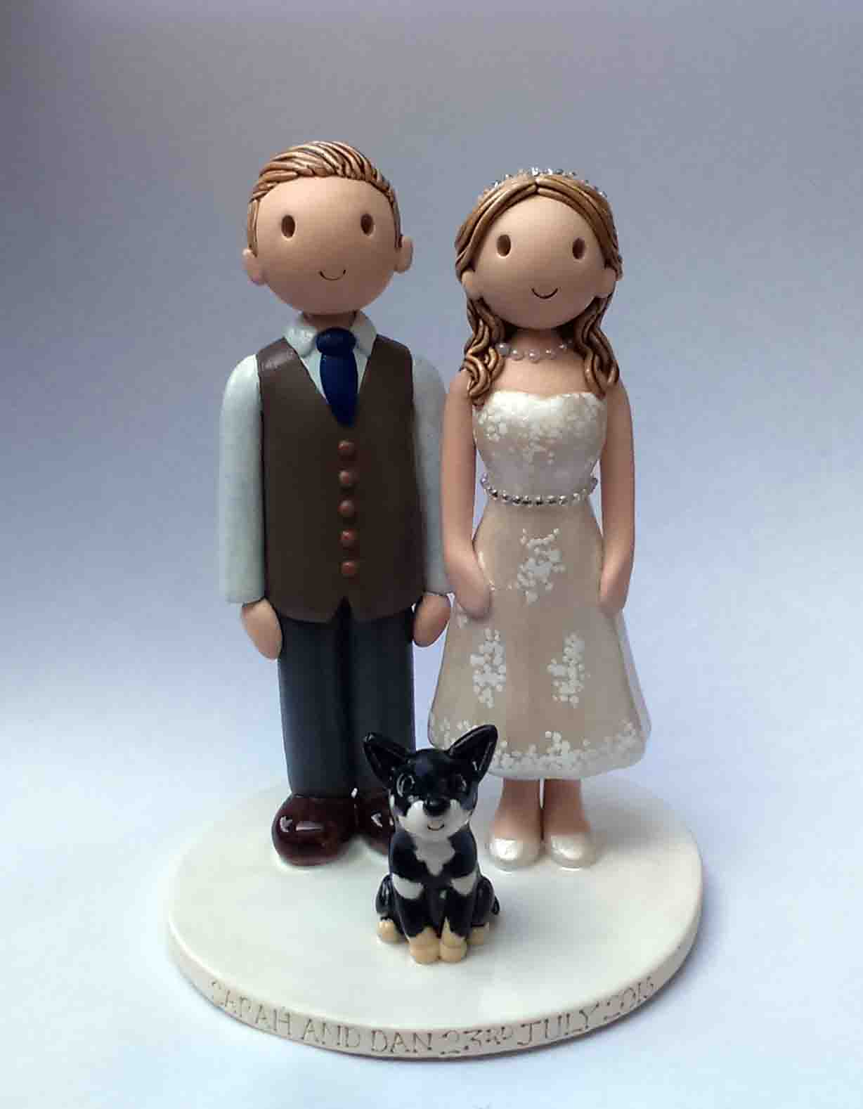 wedding cake toppers with dog uk wedding cake toppers gallery examples of toppers we 26632