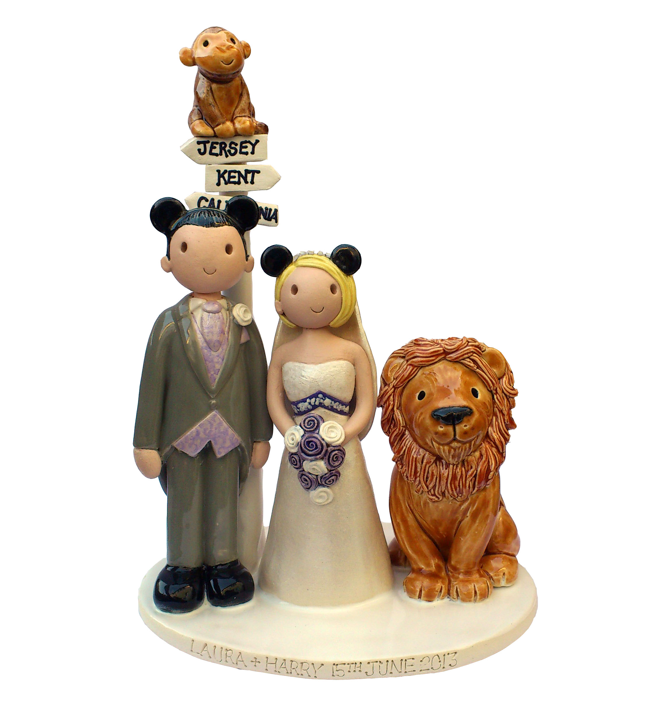 animal wedding cake toppers uk wedding cake toppers gallery examples of toppers we 10775