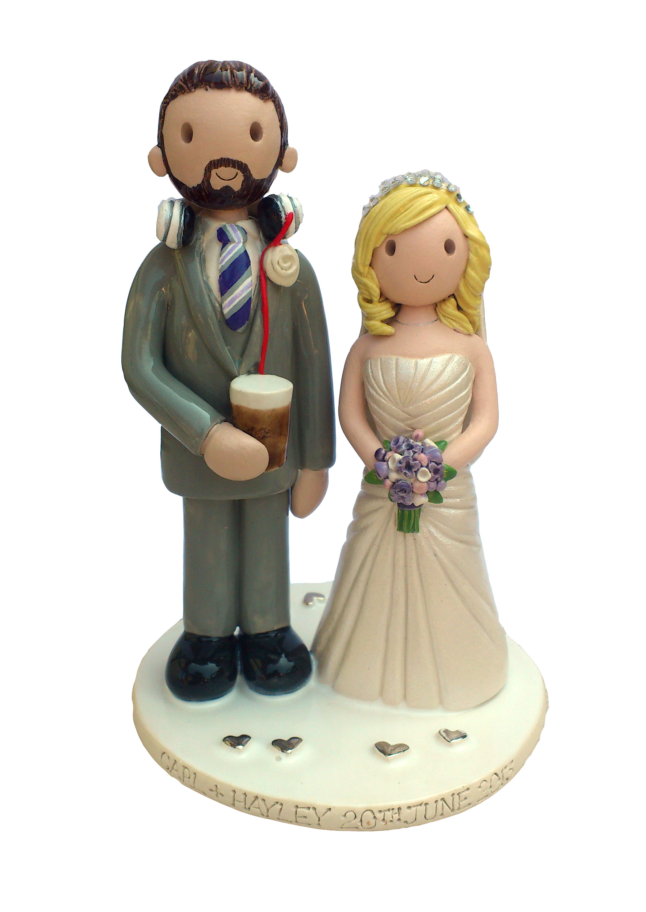 personalised clay wedding cake toppers uk wedding cake toppers gallery examples of toppers we 18210