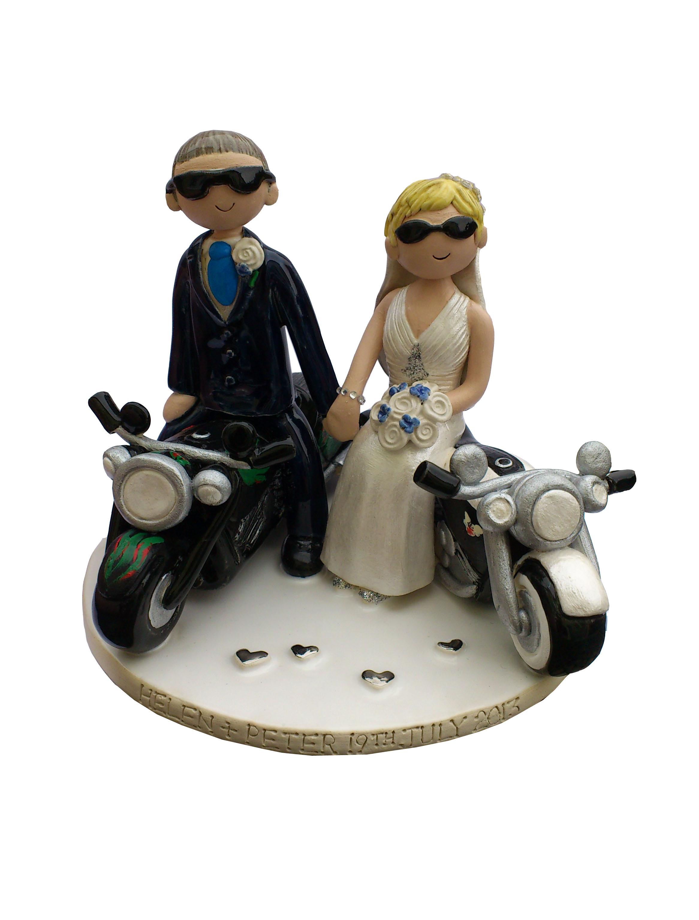 Motorbike Wedding Cake Toppers Uk