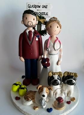 Runner and doctor cake topper
