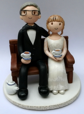 Bench wedding cake top