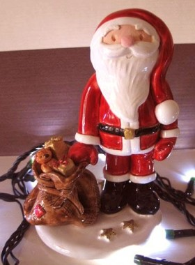 Pottery Father Christmas